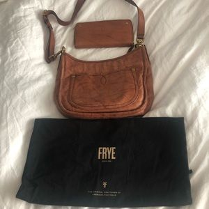 Frye Crossbody and Matching Wallet